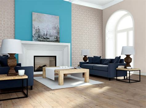 design  turquoise walls   fireplace