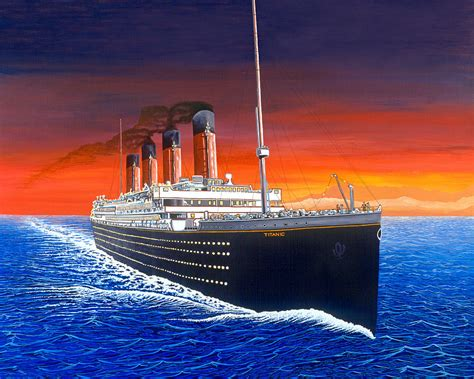 Artwork For Kids To Do by Titanic Painting By David Linton