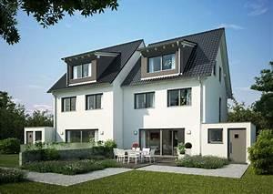 Gartengestaltung Doppelhaushälfte Bilder : doppelhaus twin xxl von kern haus komfort auf 3 ebenen ~ Whattoseeinmadrid.com Haus und Dekorationen
