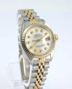 Rolex Damen Uhr Lady DateJust Perlmutt Brillant