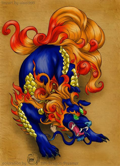 ideas  foo dog  pinterest irezumi foo dog tattoo  japanese tattoos