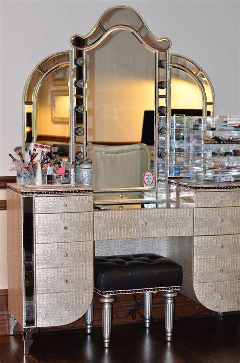 vanity desk with lights furniture magnificent makeup desk with lights decor