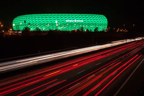 Led Arena Lights - connected philips led lighting for the allianz arena fc