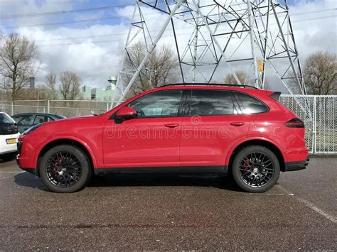 porsche cayenne side view editorial stock image image