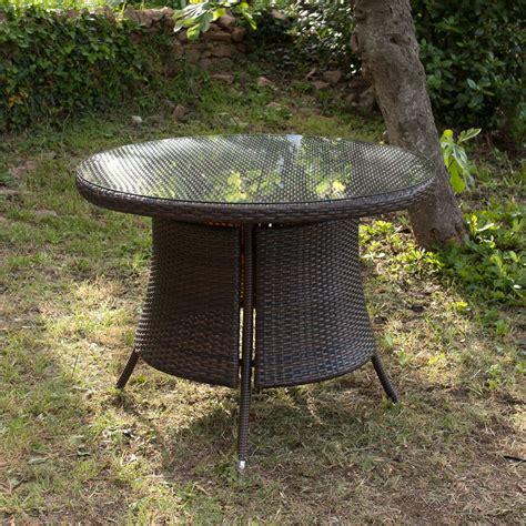 greenpath salon jardin r 233 sine tress 233 e chocolat table ronde 100cm 4 chaises sicilio pas