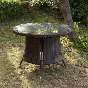 Table Jardin Tressée : table de jardin en resine tressee topiwall ~ Premium-room.com Idées de Décoration