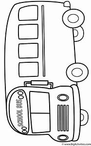 School Bus (Side) - Coloring Page (Back to School)