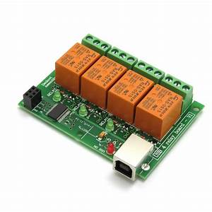 Usb 4 Channel Relay Module  Board