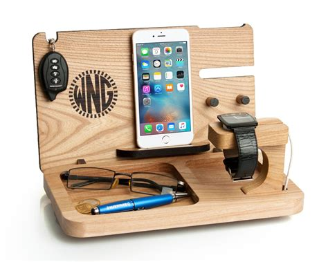 wooden iphone station mens gift iphone x apple station