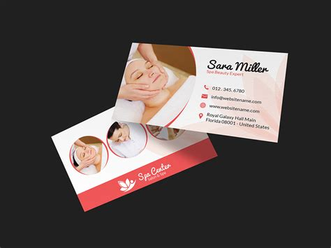 beauty salon spa business card  graphic pick