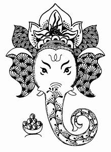 Zentangle Ganesha | Adult Colouring~Elephants~Zentangles ...