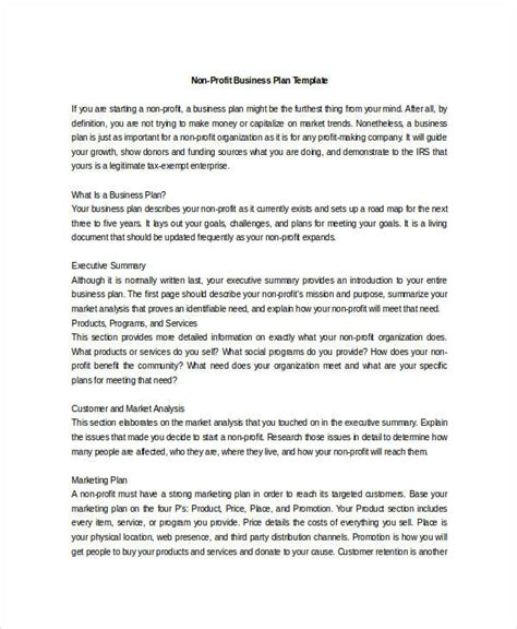 Business Plan For Non Profit Template Free by Non Profit Business Plan 12 Free Pdf Word Documents