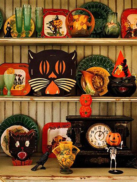 vintage halloween decorations house design  decor