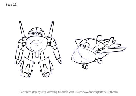 Super Wings Jerome Coloring Pages Sketch Coloring Page