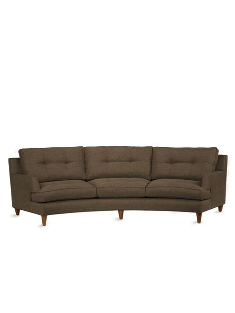 Home Interiors Com - keating curved sofa benchmade by brownstone home decor mid century