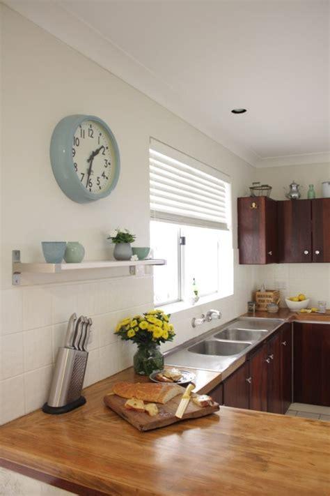 Tile Floor Kitchen Ideas - our budget kitchen makeover how to paint splashback tiles house nerd