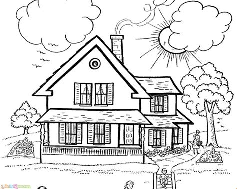gambar mewarnai anak rumah adat gambar mewarnai rumah