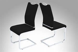 Chaises salle a manger noires meuble oreiller matelas for Chaises de salle à manger design