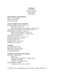 high school student resume format with no work experience filipino