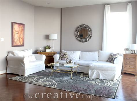 purple livingroom the creative imperative house tour purple and gray