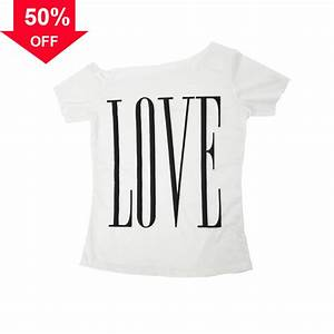 love letters printed t shirt womens 2016 casual off one With letter print tee