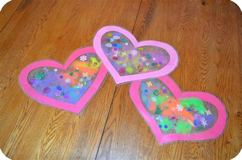 Heart Sun Catcher  Valentine's Day Craft Building Our Story