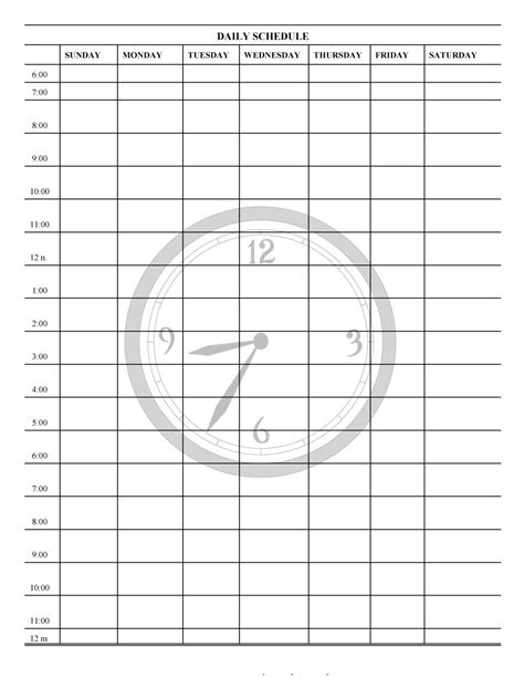 printable daily planner templates template lab