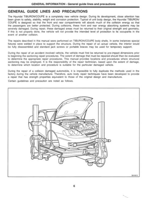 hyundai coupe body service repair manual zofti