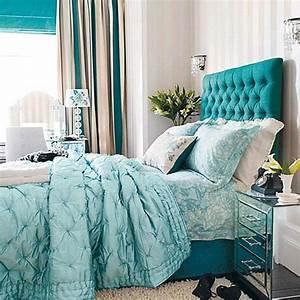 Tete De Lit Bleu : 1001 id es pour une chambre bleu canard p trole et paon ~ Premium-room.com Idées de Décoration