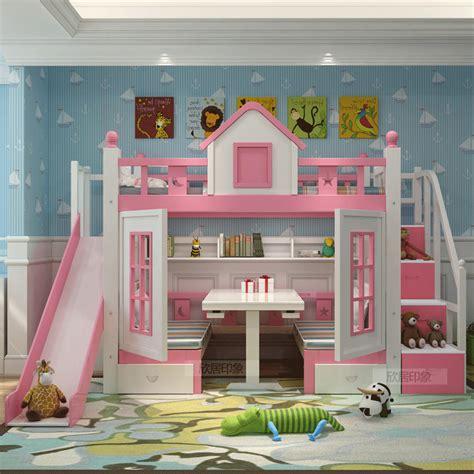 bureau de princesse lit superposé lit en bois massif base armoire lit