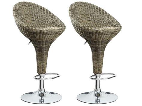 chaise de bar en osier tabouret de bar osier
