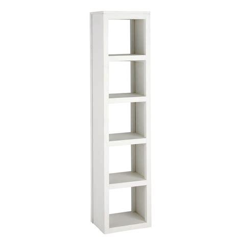 colonne en bois massif blanche h 170 cm white maisons du monde