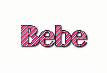 Bebe Stripes Logos Text Flaming Tool
