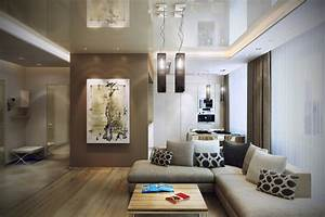 brown cream open living room interior design ideas With brown and cream living room designs