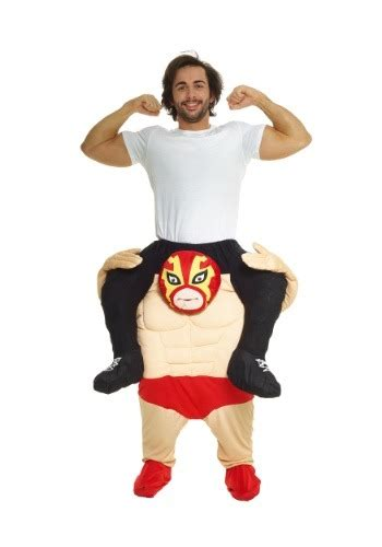 Wrestler Piggyback Costume for Men