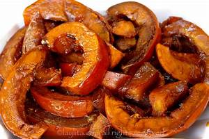 Dulce de zapallo or caramelized squash in spiced syrup
