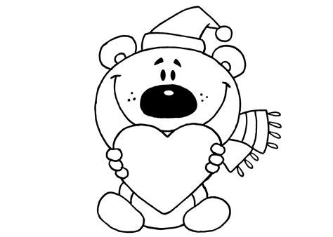 Kleurplaat Moederdag Teddybeer by Kleurplaat Hartjes 30 Allerleukste Hartjes Kleurplaten