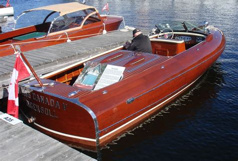 Runabout Boat Wood by Lightning Wooden Boat Muskoka Greavette Norton Safe