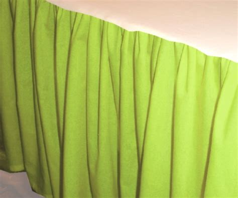 solid lime colored bedskirt in all sizes from to cal