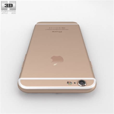 iphone 6 gold apple iphone 6 gold 3d model humster3d