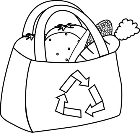 grocery clipart black and white black and white eco friendly grocery bag clip black