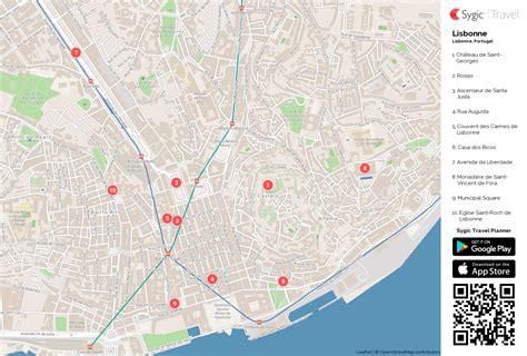 Carte De Touristique à Imprimer by Lisbonne Carte Touristique Imprimable Sygic Travel