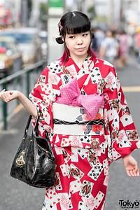 Harajuku, Girl, In, Pretty, Yukata, Vintage, Obi, Vivienne, Westwood, Handbag, U0026, Mezzo, Piano, Wedges