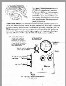Pmo Pressure Regulator Install Instructions