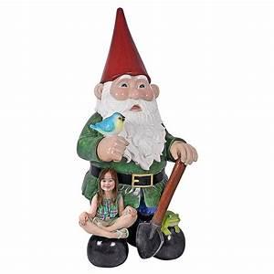 Massive 8 5 Feet Tall Garden Gnome Statue - The Green Head