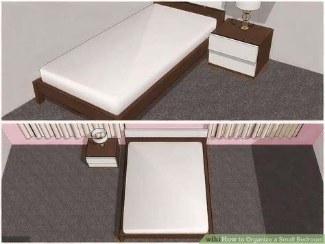 ways  organize  small bedroom wikihow