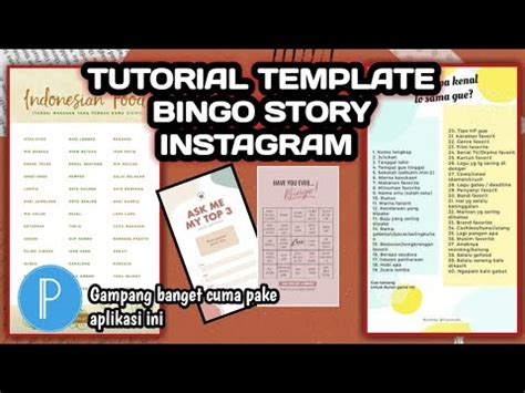 This instagram bingo template is blank and ready to be filled in! TUTORIAL TEMPLATE BINGO STORY INSTAGRAM - YouTube