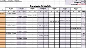 schedule template monthly employee new calendar template With employees schedule template free