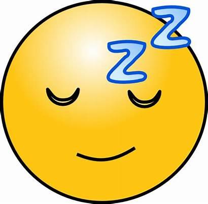 Sleepy Face Tired Clipart Sleep Smiley Cartoon
