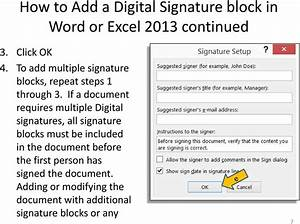 adding and applying a digital signature block in word or With pdf document add signature